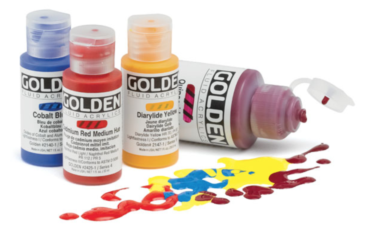Artist grade fluid acrylic paints are best for professional quality work.