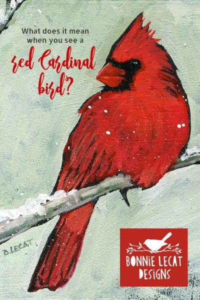 What is the meaning of the red Cardinal bird?