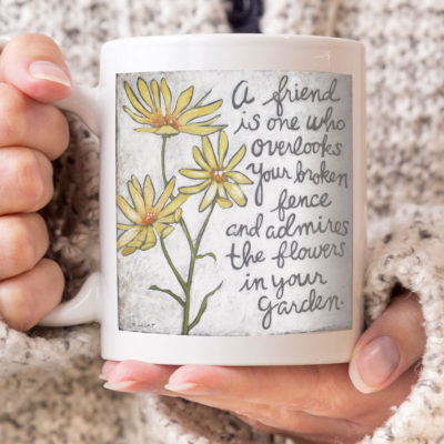 This friendship quote coffee mug makes a great gift idea!