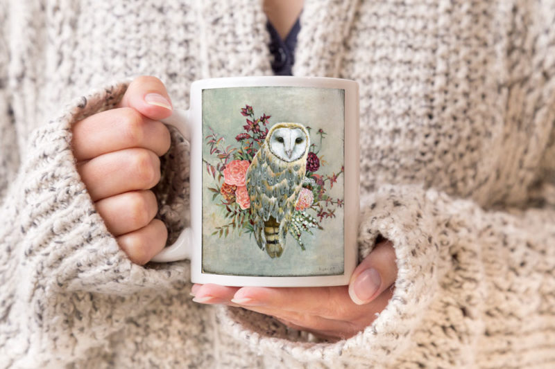This barn owl coffee mug makes a great gift idea!