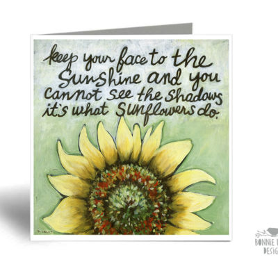 This inspirational greeting card is sure to make her smile!