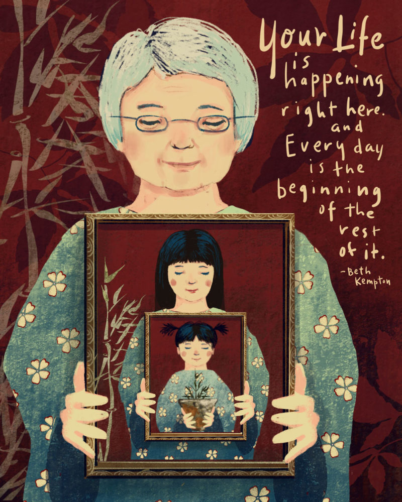 Wabi Sabi illustration by Bonnie Lecat