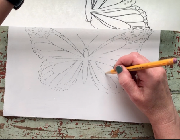 Learn a simple method for transferring a drawing onto a canvas.