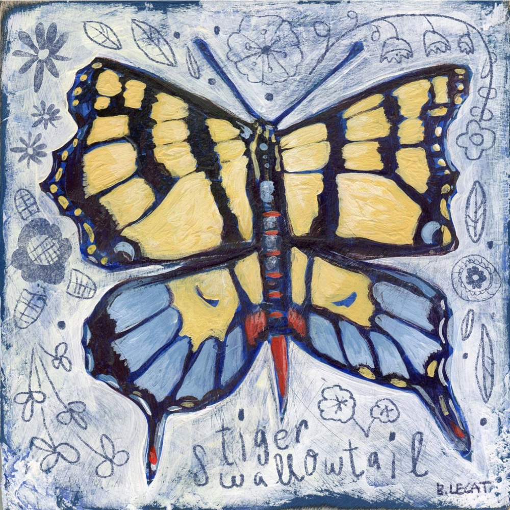 Tiger Swallowtail illustration by Bonnie Lecat