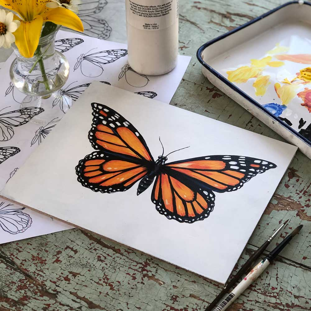 How to draw and paint a butterfly