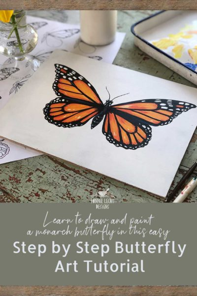 How to paint a step by step butterfly.