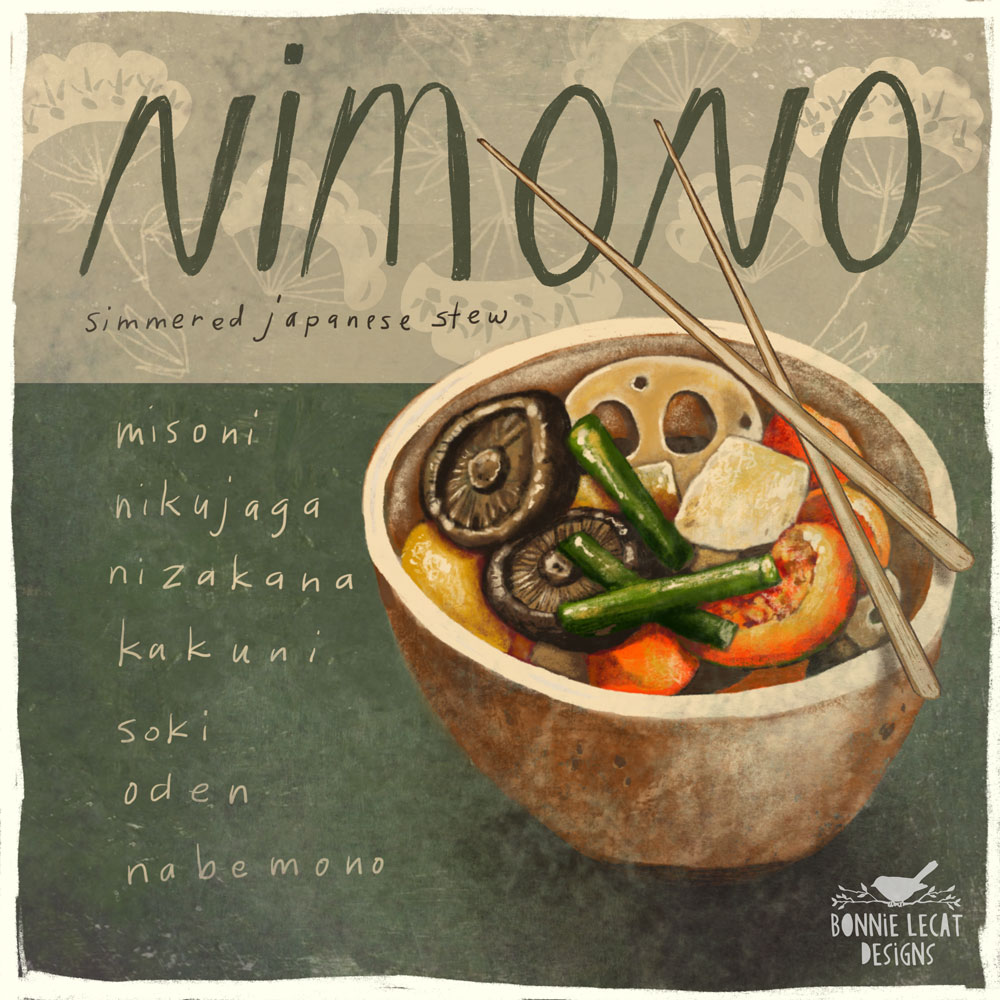 food illustration by Bonnie Lecat