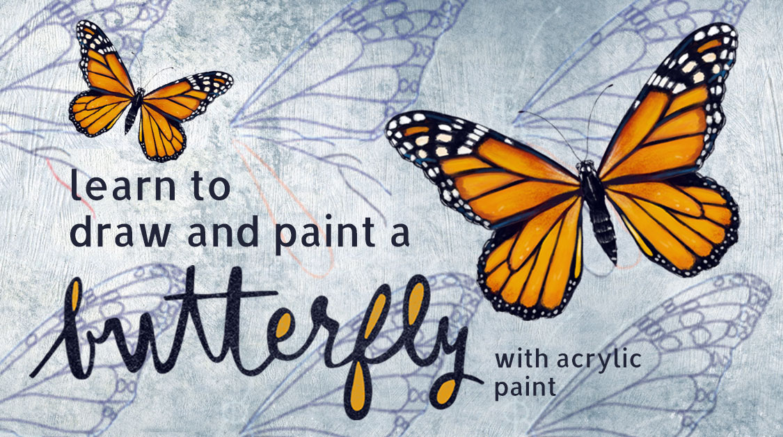 Learn to draw and paint a butterfly step by step.