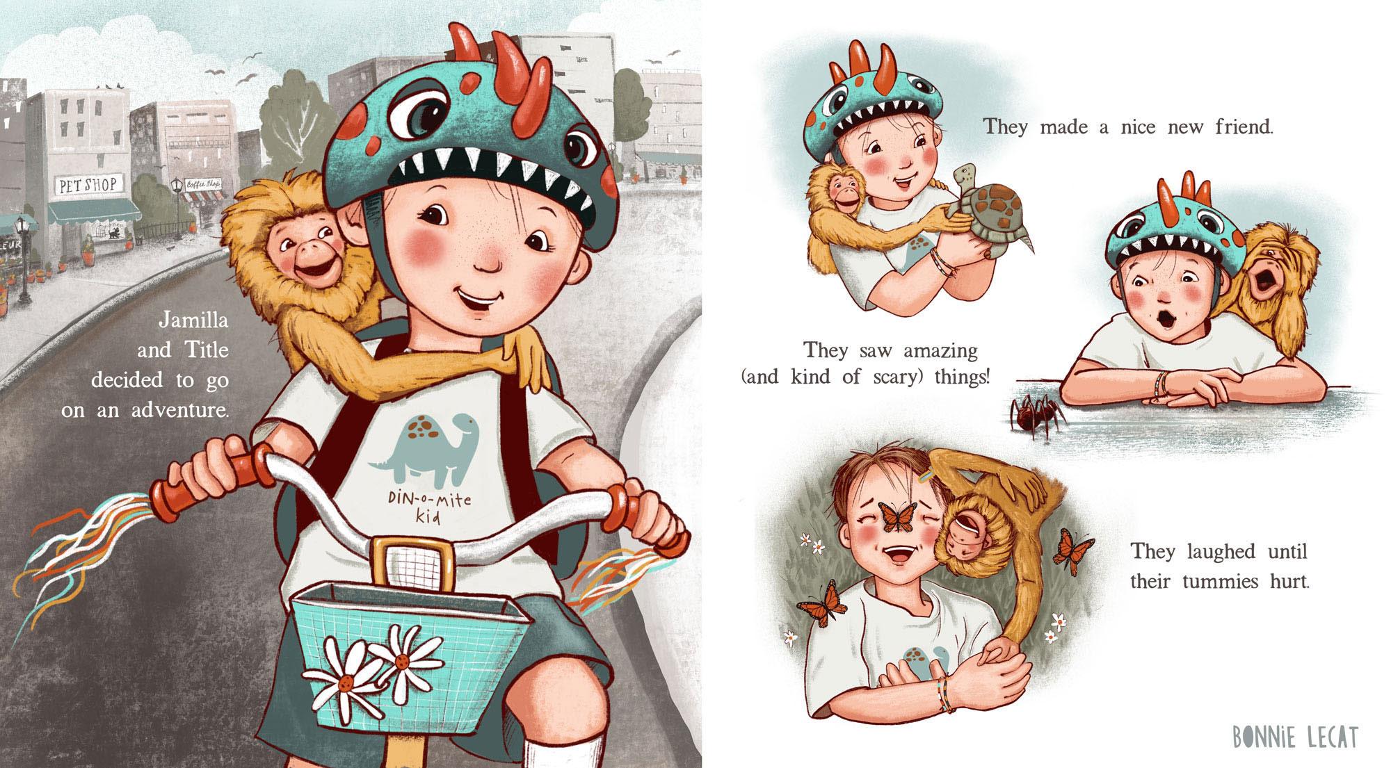 Children's Book illustration by Bonnie Lecat