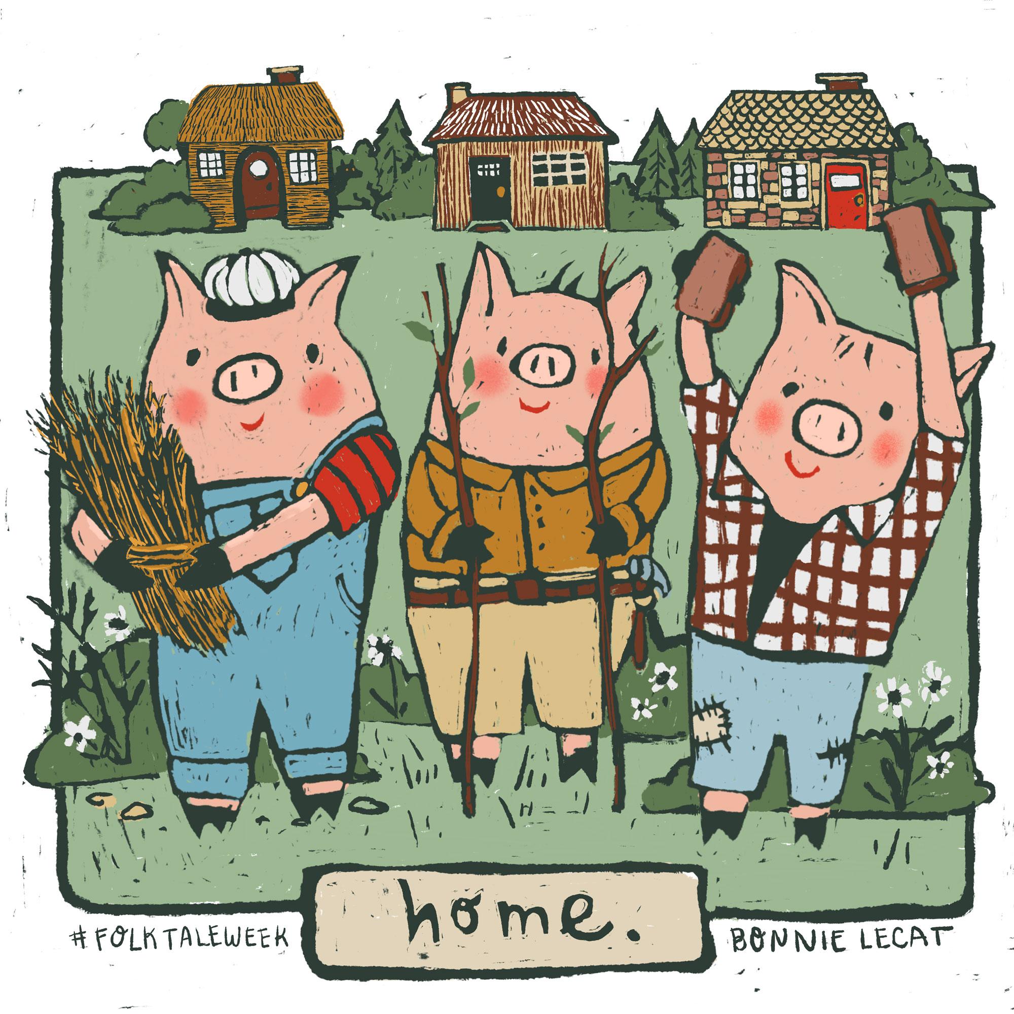 Three Little Pigs by Bonnie Lecat