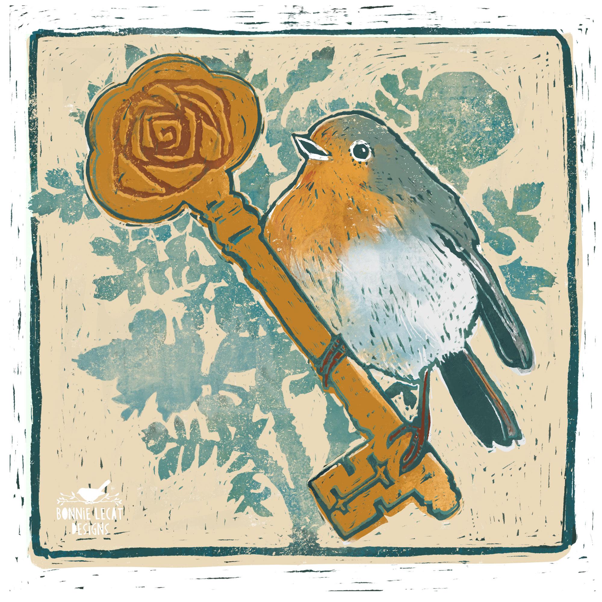 The Secret Garden Illustration by Bonnie Lecat