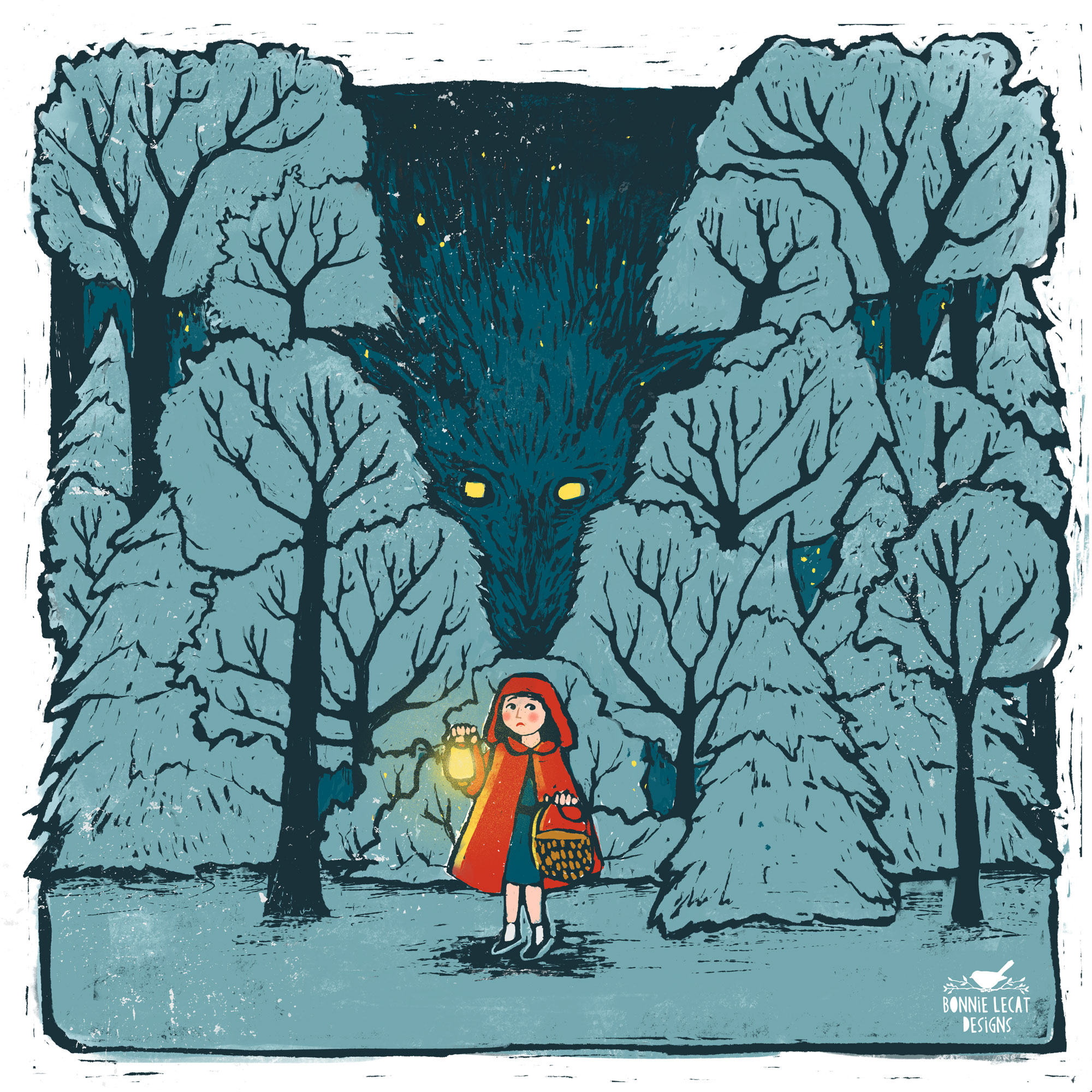 Little Red Riding Hood Illustration by Bonnie Lecat