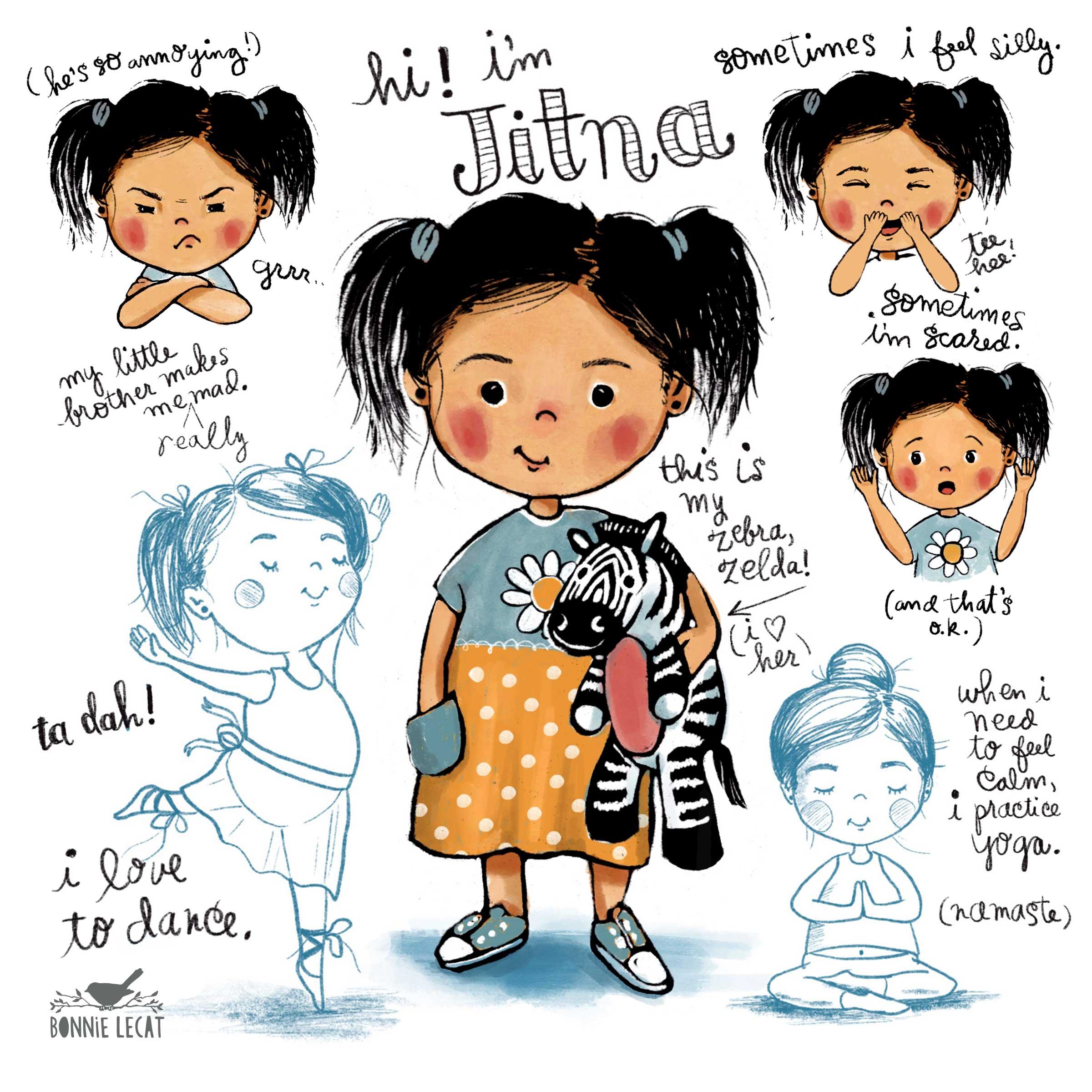 Character design by Bonnie Lecat.