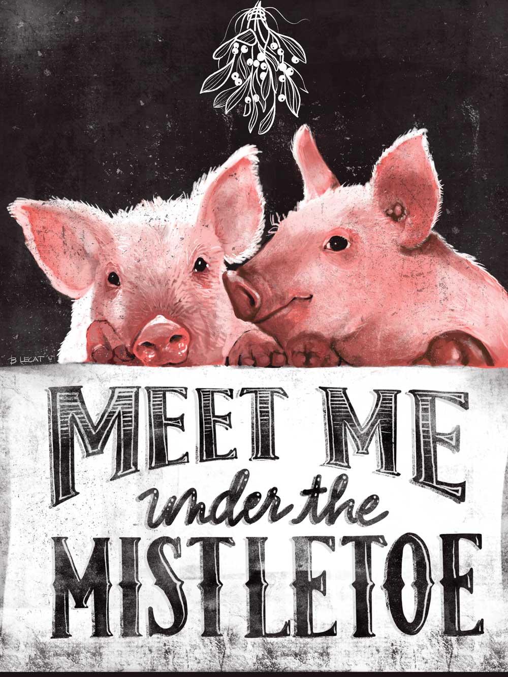 Meet Me Under the Mistletoe by Bonnie Lecat