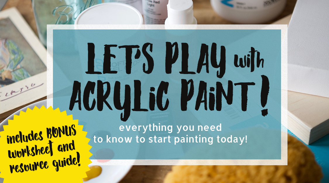 How to paint with acrylic paints.