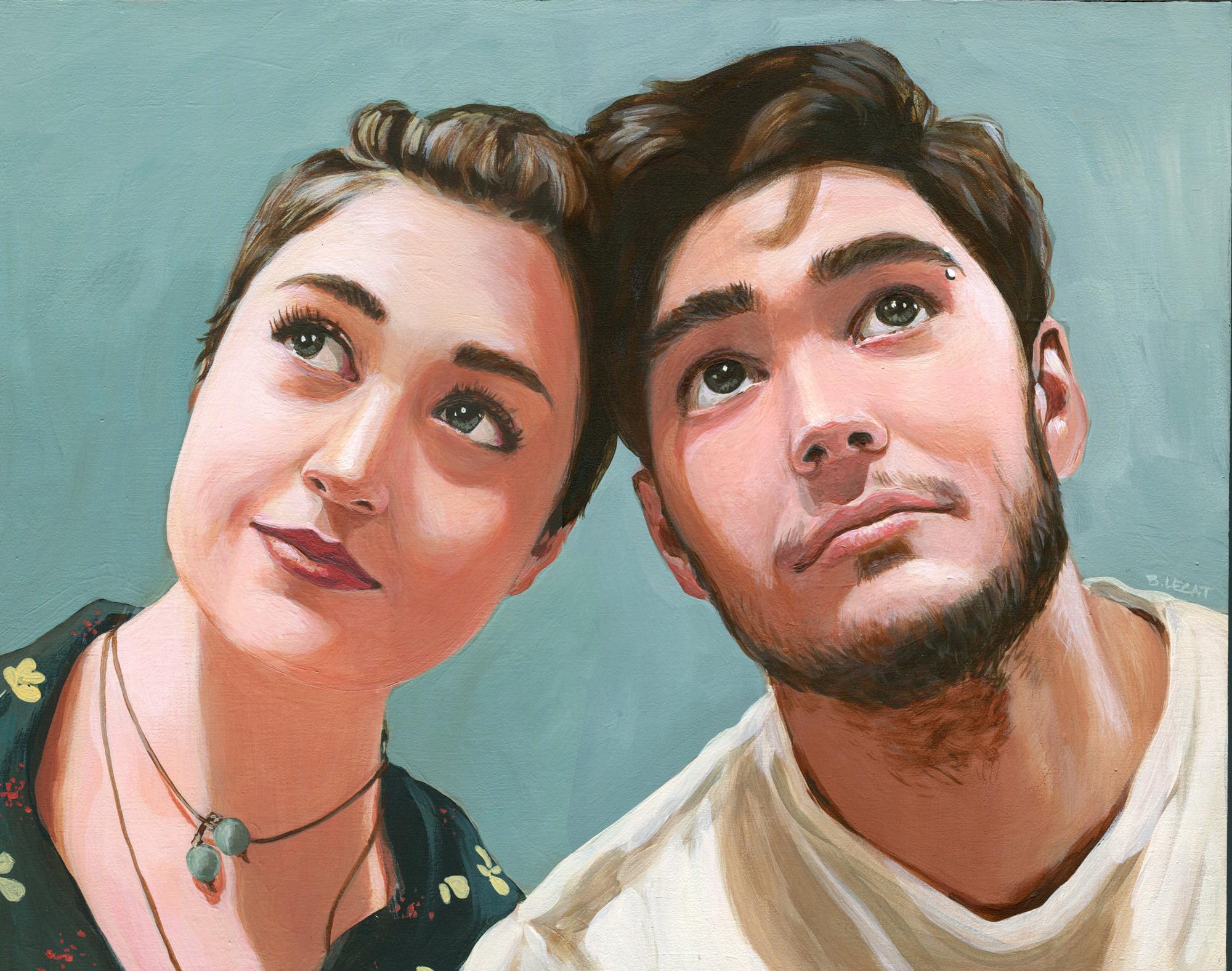 Portrait Art by Bonnie Lecat