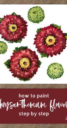 step by step flower painting